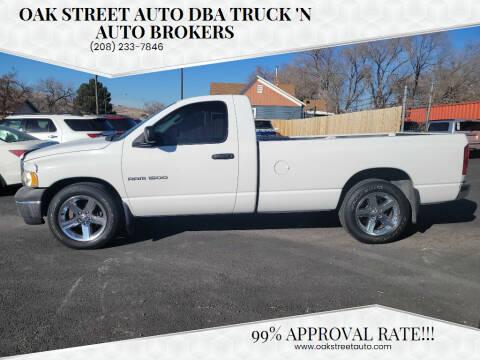 2002 Dodge Ram Pickup 1500 for sale at Oak Street Auto DBA Truck 'N Auto Brokers in Pocatello ID