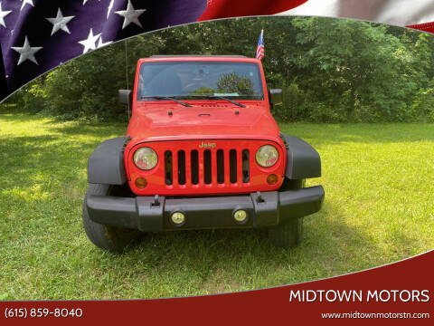 2013 Jeep Wrangler for sale at Midtown Motors in Greenbrier TN