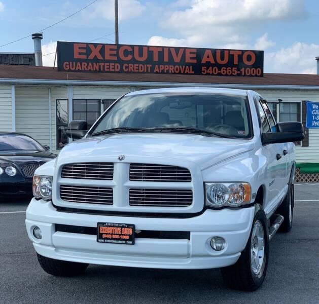 2004 Dodge Ram Pickup 1500 for sale at Executive Auto in Winchester VA