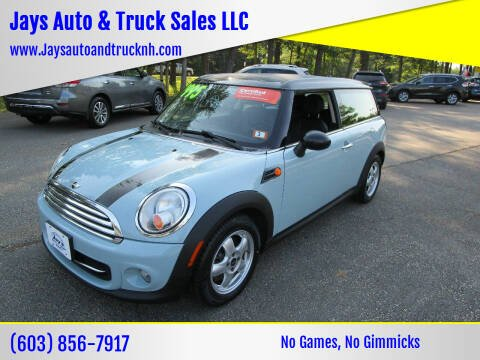 2011 MINI Cooper Clubman for sale at Jays Auto & Truck Sales LLC in Loudon NH