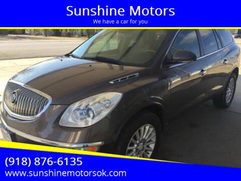 2009 Buick Enclave for sale at Sunshine Motors in Bartlesville OK