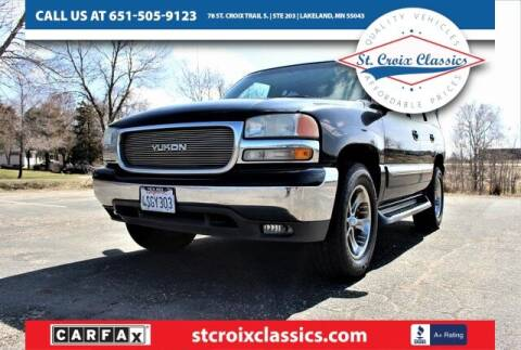2001 GMC Yukon for sale at St. Croix Classics in Lakeland MN