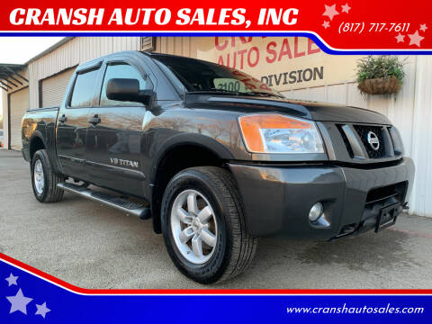 2010 Nissan Titan for sale at CRANSH AUTO SALES, INC in Arlington TX