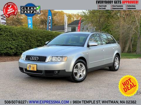 2003 Audi A4 for sale at Auto Sales Express in Whitman MA