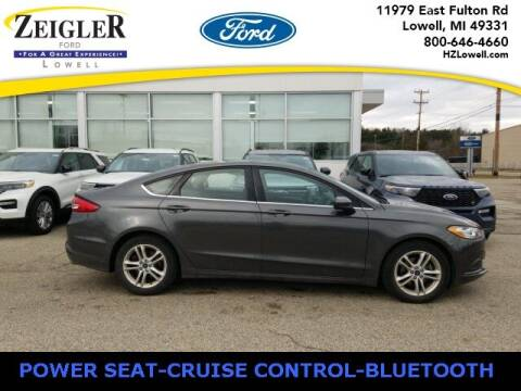 2018 Ford Fusion for sale at Zeigler Ford of Plainwell- Jeff Bishop in Plainwell MI