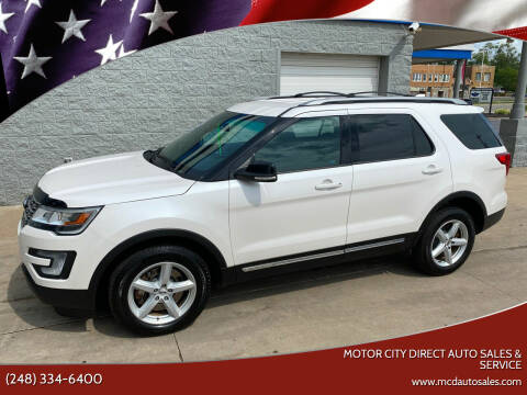 2016 Ford Explorer for sale at Motor City Direct Auto Sales & Service in Pontiac MI