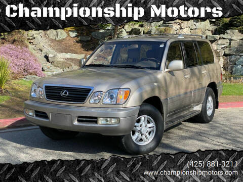 2000 Lexus LX 470 for sale at Championship Motors in Redmond WA
