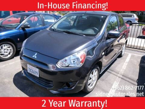 2014 Mitsubishi Mirage for sale at Sidney Auto Sales in Downey CA