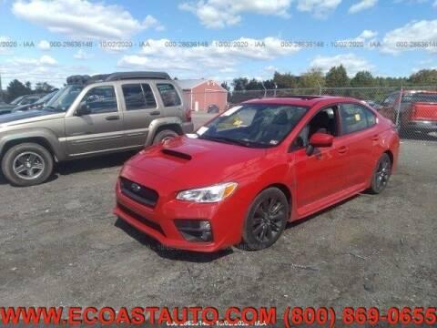 2015 Subaru WRX for sale at East Coast Auto Source Inc. in Bedford VA
