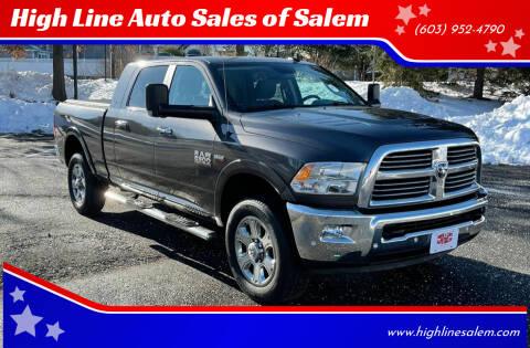 2016 RAM Ram Pickup 2500 for sale at High Line Auto Sales of Salem in Salem NH