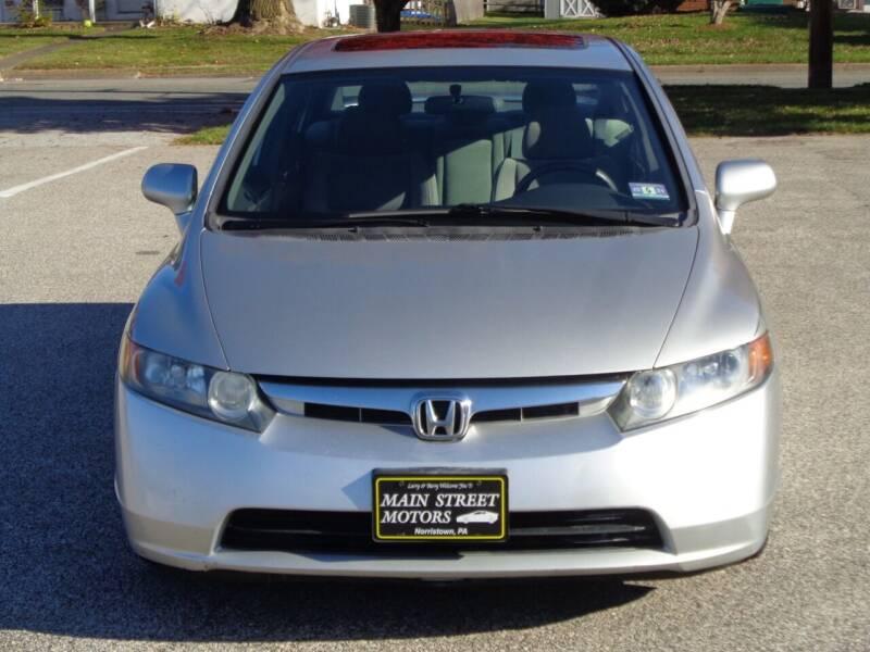 2008 Honda Civic for sale at MAIN STREET MOTORS in Norristown PA