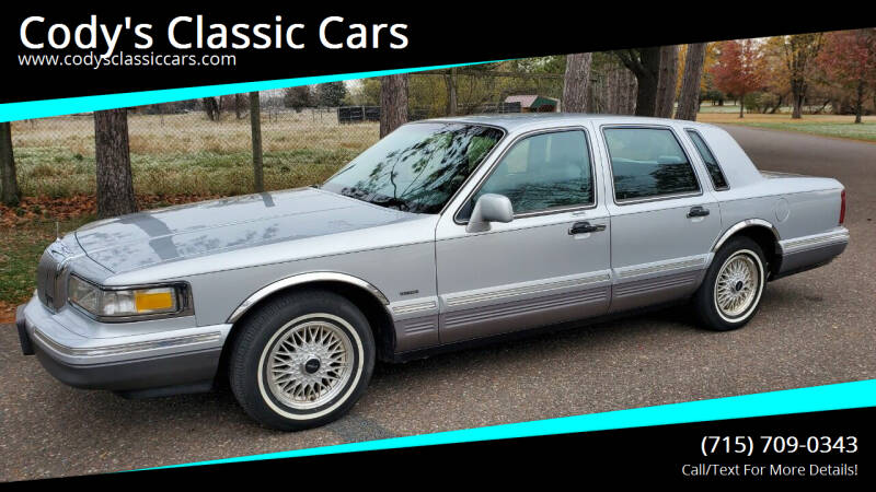1996 Lincoln Town Car for sale at Cody's Classic Cars in Stanley WI