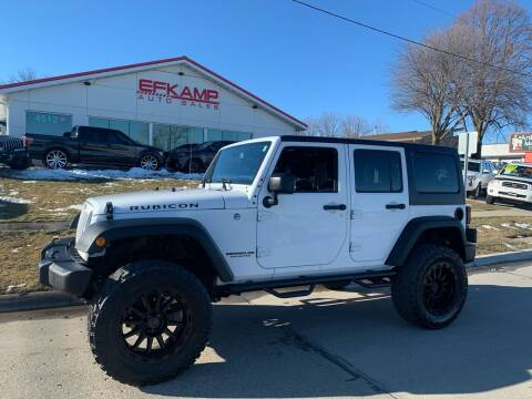 2016 Jeep Wrangler Unlimited for sale at Efkamp Auto Sales LLC in Des Moines IA