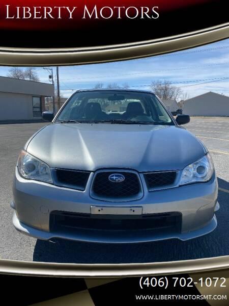 2007 Subaru Impreza for sale at Liberty Motors in Billings MT