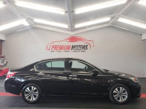2015 Honda Accord for sale at Premium Motors in Villa Park IL