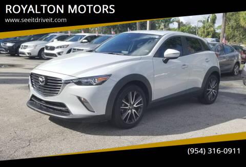 2018 Mazda CX-3 for sale at ROYALTON MOTORS in Plantation FL