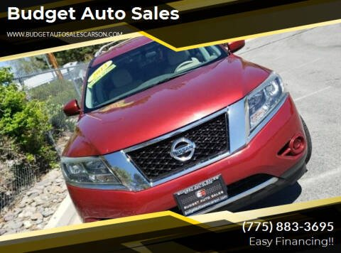 2013 Nissan Pathfinder for sale at Budget Auto Sales in Carson City NV