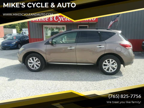 2011 Nissan Murano for sale at MIKE'S CYCLE & AUTO in Connersville IN