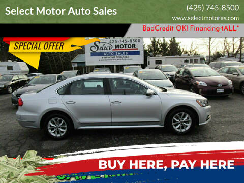 2016 Volkswagen Passat for sale at Select Motor Auto Sales in Lynnwood WA
