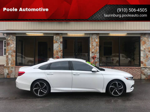2018 Honda Accord for sale at Poole Automotive in Laurinburg NC