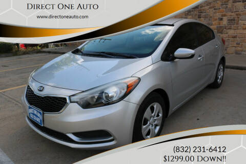 2014 Kia Forte for sale at Direct One Auto in Houston TX