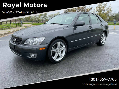 2004 Lexus IS 300 for sale at Royal Motors in Hyattsville MD