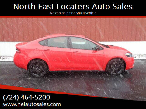 2016 Dodge Dart for sale at North East Locaters Auto Sales in Indiana PA