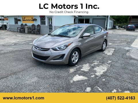 2015 Hyundai Elantra for sale at LC Motors 1 Inc. in Orlando FL