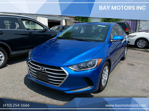 2017 Hyundai Elantra for sale at Bay Motors Inc in Baltimore MD
