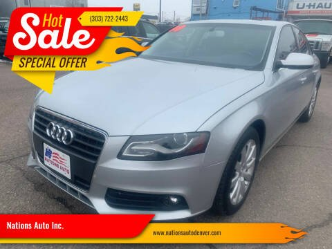 2010 Audi A4 for sale at Nations Auto Inc. in Denver CO
