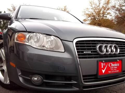 2007 Audi A4 for sale at 1st Choice Auto Sales in Fairfax VA
