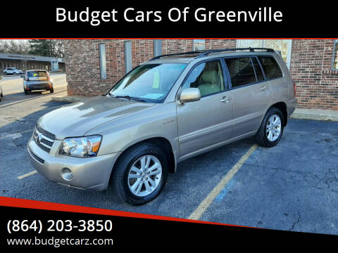 2006 Toyota Highlander Hybrid for sale at Budget Cars Of Greenville in Greenville SC