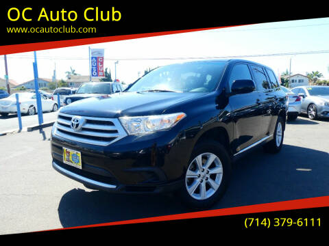 2012 Toyota Highlander for sale at OC Auto Club in Midway City CA