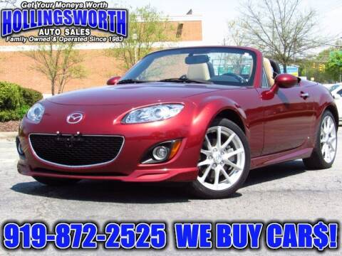 2011 Mazda MX-5 Miata for sale at Hollingsworth Auto Sales in Raleigh NC