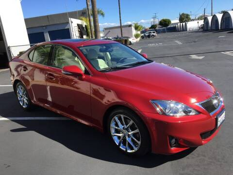 2013 Lexus IS 250 for sale at MANGIONE MOTORS ORANGE COUNTY in Costa Mesa CA