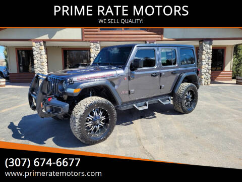 2018 Jeep Wrangler Unlimited for sale at PRIME RATE MOTORS in Sheridan WY