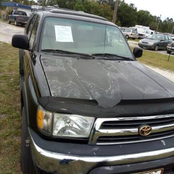 2000 Toyota 4Runner for sale at MOTOR VEHICLE MARKETING INC in Hollister FL