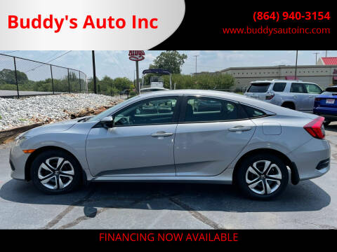 2016 Honda Civic for sale at Buddy's Auto Inc in Pendleton, SC