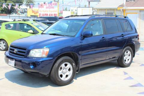 2006 Toyota Highlander for sale at FJ Auto Sales in North Hollywood CA