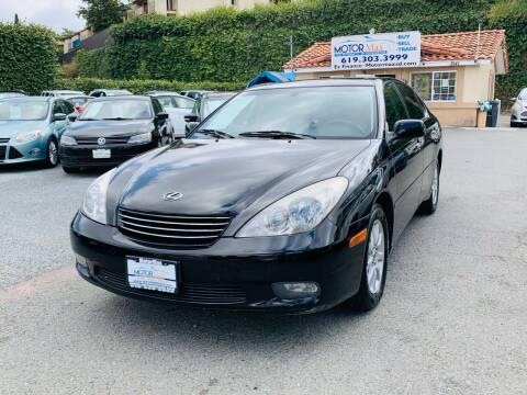 2004 Lexus ES 330 for sale at MotorMax in Lemon Grove CA