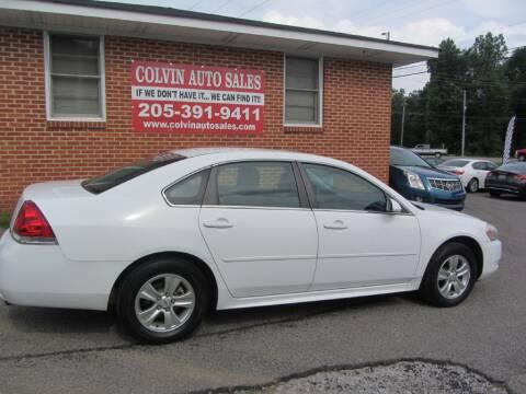 2012 Chevrolet Impala for sale at Colvin Auto Sales in Tuscaloosa AL