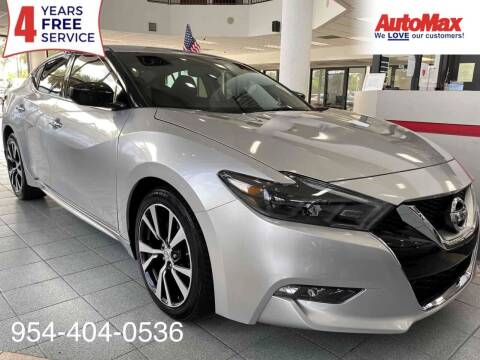 2016 Nissan Maxima for sale at Auto Max in Hollywood FL