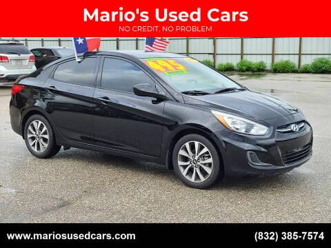 2017 Hyundai Accent for sale at Mario's Used Cars - Pasadena Location in Pasadena TX