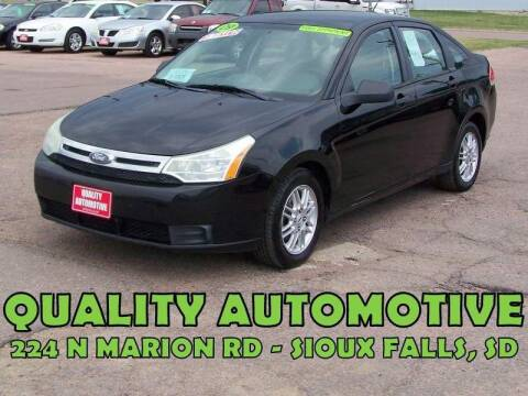 2009 Ford Focus for sale at Quality Automotive in Sioux Falls SD