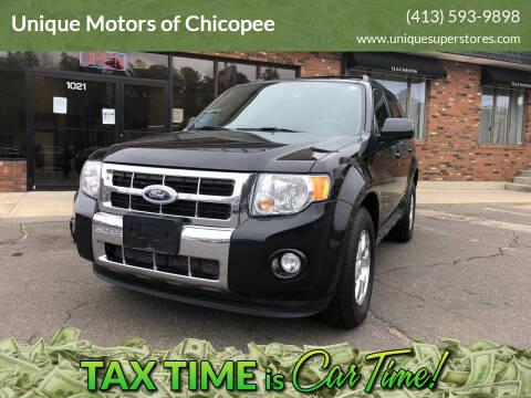 2011 Ford Escape for sale at Unique Motors of Chicopee in Chicopee MA