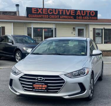 2018 Hyundai Elantra for sale at Executive Auto in Winchester VA