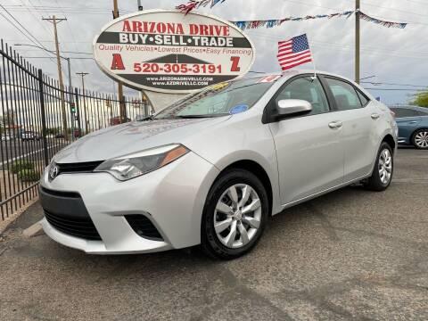 2014 Toyota Corolla for sale at Arizona Drive LLC in Tucson AZ