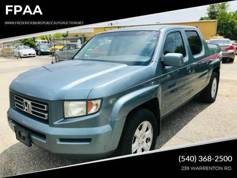 2006 Honda Ridgeline for sale at FPAA in Fredericksburg VA