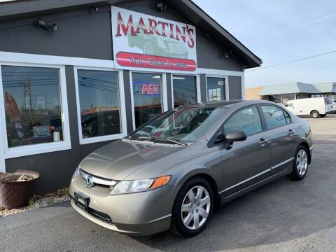 2007 Honda Civic for sale at Martins Auto Sales in Shelbyville KY