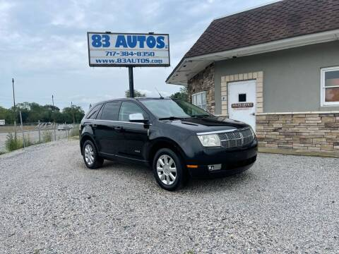 2008 Lincoln MKX for sale at 83 Autos in York PA